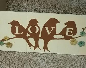 Love Bird wall hanging