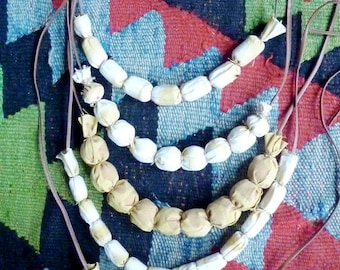 Natural dye necklace