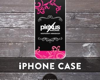 Chic Black & Pink Plexus iPhone Case