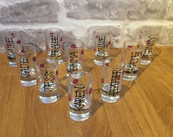 40 custom request personalised shot glasses (price for 40)