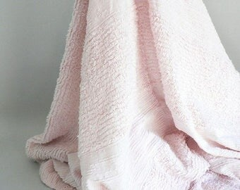 Pink Bedspread Chenille Vintage Twin Size