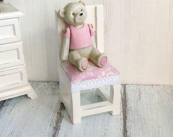 1:6 chair Wooden dolls furniture BJD Doll  Shabby chic Barbie Monster high Blythe