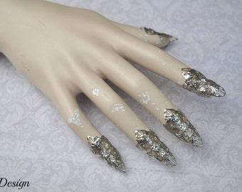 Fantasy Claws (silver/ clear rhinestones)