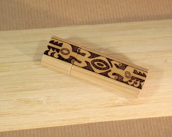 USB stick custom bamboo - 128 MB - the perfect gift