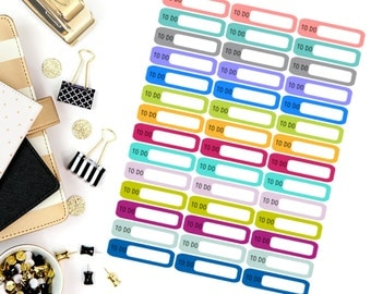 To Do Mini Label Stickers! Perfect for your Erin Condren Life Planner, calendar, Paper Plum, Filofax!
