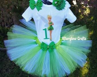 Tinkerbell Birthday Tutu, Tinkerbell Tutu, Tinkerbell Birthday Outfit, Tinkerbell Shirt, Tinkerbell Birthday Shirt, Tinkerbell Tutu Outfit