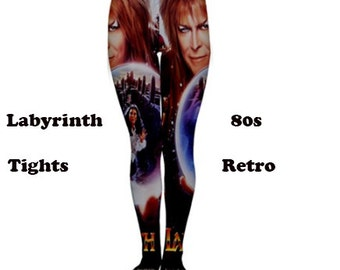 Labyrinth tights, tights, fashion, 80's, 80's pattern, fun, David Bowie, retro, vintage, 80's style