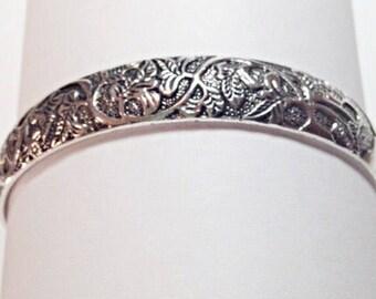 Exquisite Tibetan Silver Cuff Bangle Bracelet