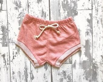 Blush jogger shorties