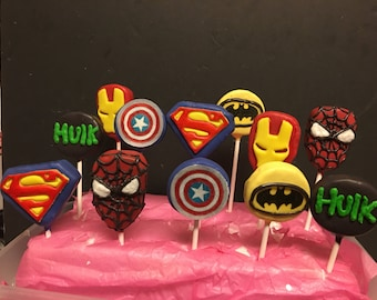 12 superhero cake pops