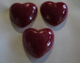 Valentine's day heart shaped soap bars 3 pack great for party favor