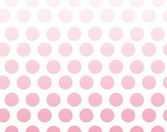 Riley Blake-Ombre Dots-PINK-sold by the yard