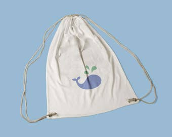 Cotton whale Duffle Bag