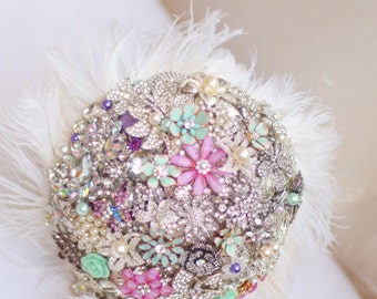 Brooch Bouquet - Bridal Bouquet - Keepsake Bouquet - Custom Bouquet - Wedding Bouquet - Bridesmade Bouquet