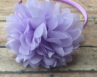 Lavender Headband - Hard Headband - Toddler Headband - girl headband - Lavender flower - Lavender flower headband - Flower girl headband