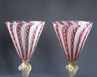 Pair of stemware glass from Venice (Italy)