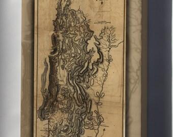 Canvas 24x36; Map Of Burgoyne'S Invasion, 1777 Revolutionary War