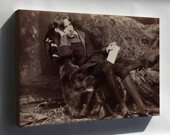 Canvas 24x36; Oscar Wilde