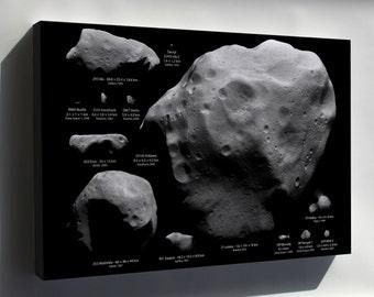 Canvas 16x24; Largest Asteroids