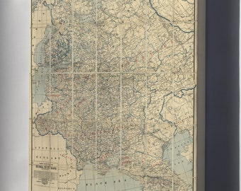 Canvas 16x24; Map Of Western Russia 1918