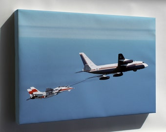 Canvas 16x24; Convair Uc-880 Refuels F-14D Super Tomcat Aircraft