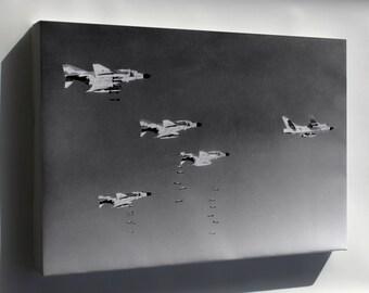Canvas 16x24; F-4C Phantom Ii F-4 Rb-66B-Dl Destroyer Vietnam War 1966