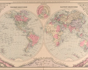 16x24 Poster; Map Of The World 1890
