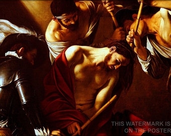 16x24 Poster; Crowning With Thorns (Caravaggio)