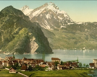 16x24 Poster; Stanstaad And Pilatus, Lake Lucerne, Switzerland 1890