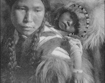 16x24 Poster; Havasupai Girl Wearing Beads And Cape, Half Length, Seated, 1900 Nara 520078