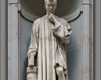 16x24 Poster; Statue Of Niccolo Macchiavelli, By Lorenzo Bartolini, Florence, Italy