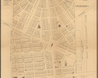 16x24 Poster; Map Of Detroit, Michigan, 1831