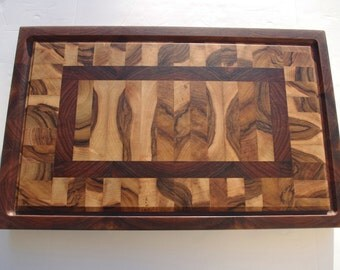 Cutting board/cutting board - end grain cutting board - Walnut Nussbaum