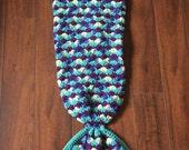 Mermaid Crochet Blanket -Toddler - Teal and Purple