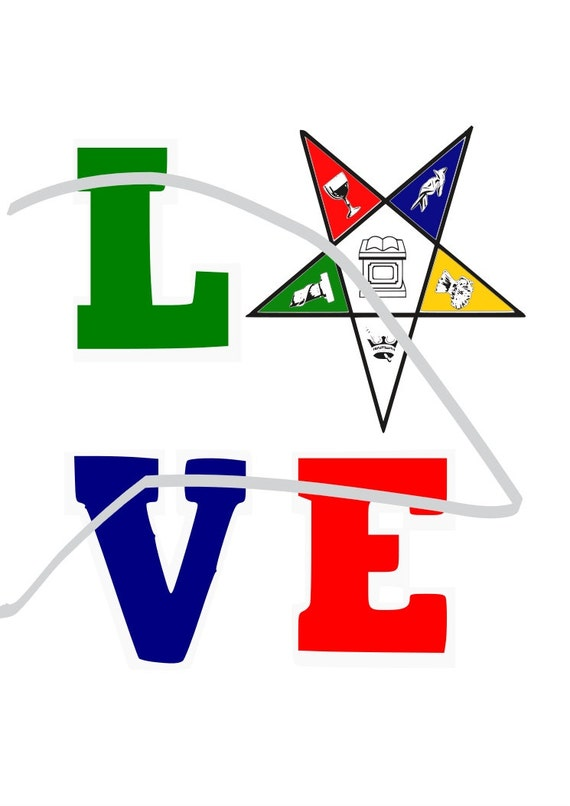 Love Eastern Star SVG Cricut SVG File Free-masonic