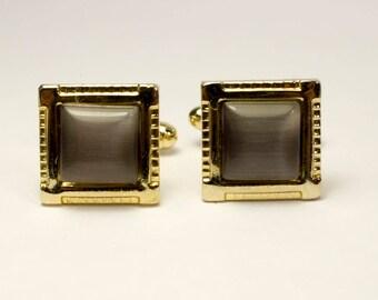 Cuff links Cufflinks Vintage Soviet Metal Cuff Links golden colored soviet cufflinks Soviet Sleeve Button made in USSR in 80s, Collectible