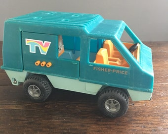 1977 Fisher Price Mobile TV Unit 309 / Vintage Toy