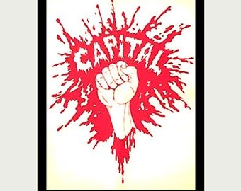 Capitalism Sticker - Wall Street Decal - Rebellion decal - Inspirational Decal - Car Window Decal - Fist Decal - Laptop Revolt Decal - S36