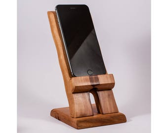 wooden iphone stand wood stand etsy 13326