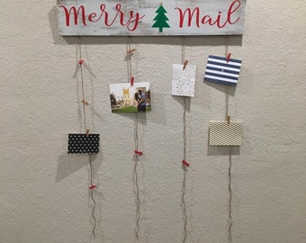 Merry Mail with Christmas Tree | Holiday Decor | Christmas Decor | Merry Mail Sign | Christmas Wood Sign | Home Decor