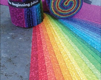 Quilting Essentials for stash building.  Color Theory Jelly Roll from In The Beginning.