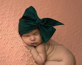 HUNTER GREEN Gorgeous Wrap- headwrap; fabric head wrap; green head wrap; boho; newborn headband; baby headband; toddler headband