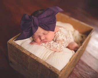 ROYAL PURPLE Gorgeous Wrap- headwrap; fabric head wrap; purple head wrap; boho; newborn headband; baby headband; toddler headband