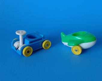 "Fisher Price Little People "" #656 Little Riders Wagon & Airplane "" 1970's"