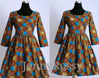 African print Midi dress African clothing Ankara fashionable Dress African clothing for women