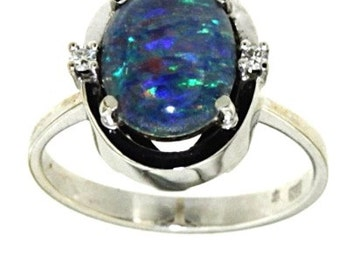 Ring Opportunity! Opal 2 Diamonds