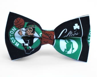 Boston Celtics Bow Tie | Basketball Bow Tie | Sports Bow Tie | Basketball Team | Gifts for Him | Kids Basketball Bow Tie | Coach Gift