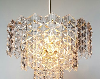 A very nice vintage glass Kinkeldey chandelier