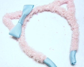 Pink Kawaii Pastel Fairy Kei Kitty Ears