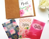 Fancy Florals Vellum Planner Dashboards For TN's and Midori Travelers Notebook V137